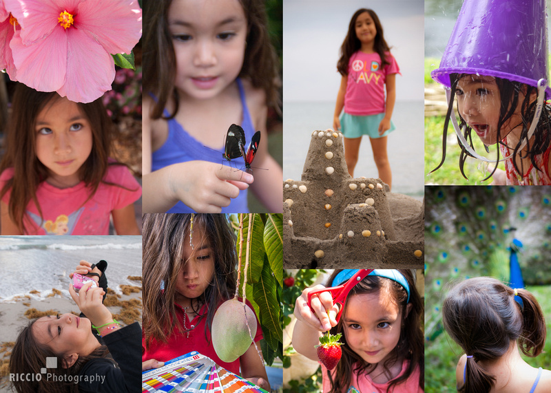 Collage of a young girls