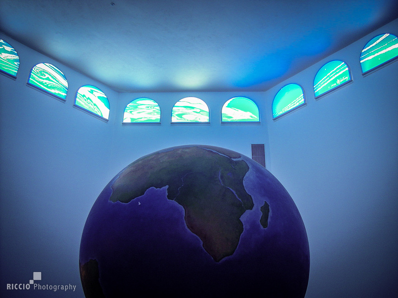 planet earth in a room