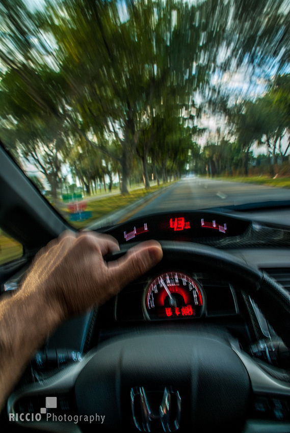 View while driving. Photographed by Maurizio Riccio