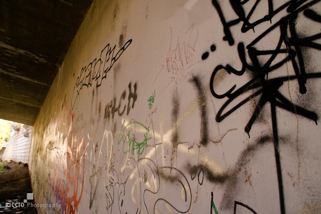 Graffiti in Santa Fe, New Mexico. Photographed by Maurizio Riccio