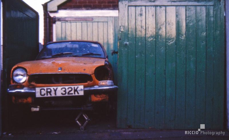 Broken down car in Loughborough, England