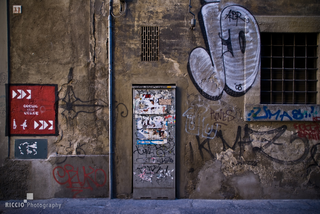 Graffiti in Florence, Italy. Photographed by Maurizio Riccio