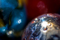 Macro photography of marbles. Photographed by Maurizio Riccio