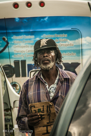Homeless man in Miami, Florida Photographed by Maurizio Riccio