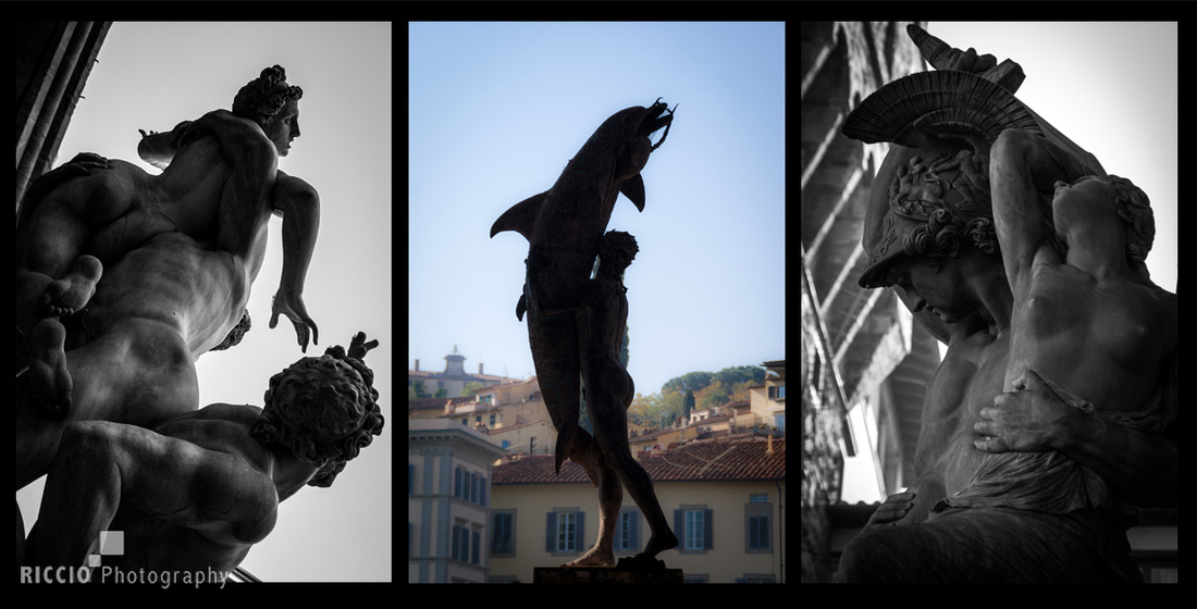 Statues in Florence, Italy. Photographed by Maurizio Riccio