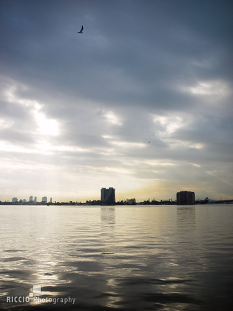 Dawn on Miami intercoastal photographed by Maurizio Riccio