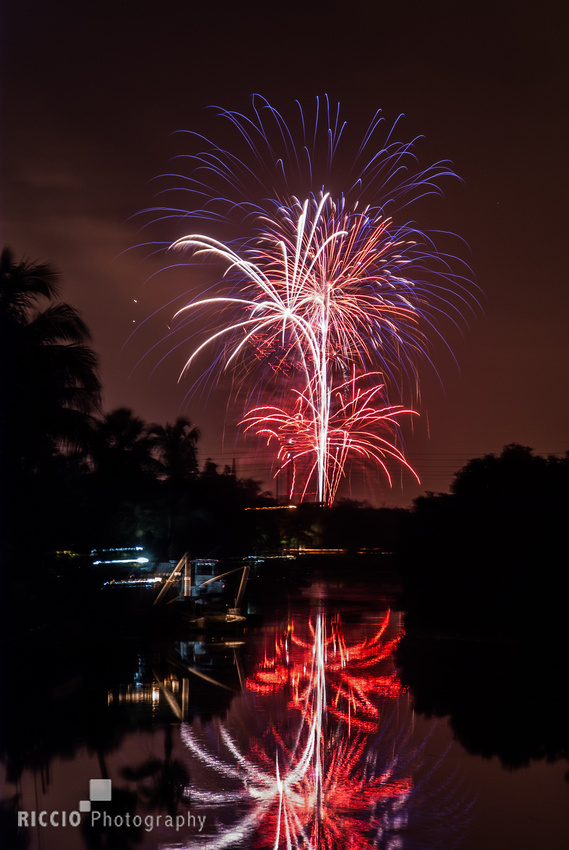 4th of July fireworks in Boca Raton, Florida