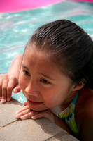 Young girl in the pool